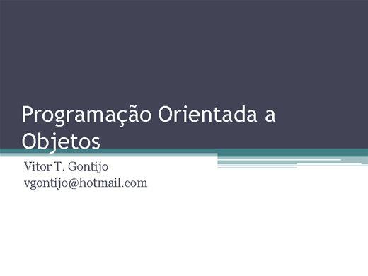 Curso Online de Programação Orientada a Objetos