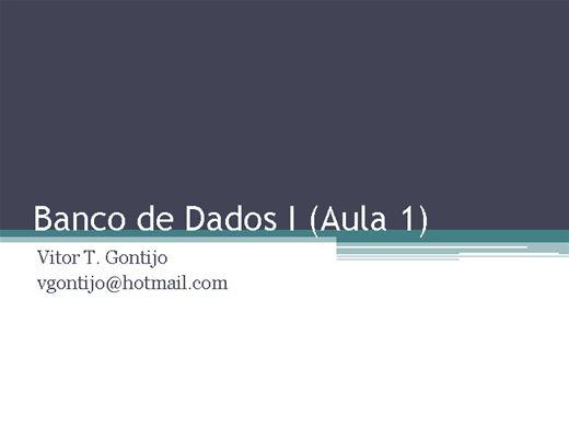 Curso Online de Curso de Banco de Dados