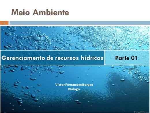 Curso Online de Gerenciamento de Recursos Hídricos
