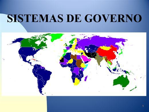 Curso Online de SISTEMAS DE GOVERNO