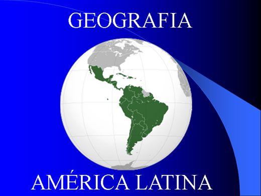 Curso Online de GEOGRAFIA DA AMÉRICA LATINA