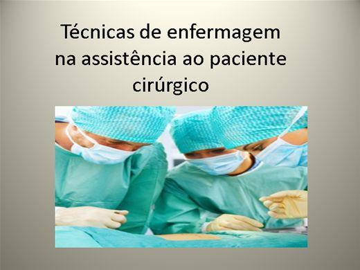 Curso Online de TÉCNICAS DE ENFERMAGEM NA ASSISTÊNCIA AO PACIENTE CIRÚRGICO