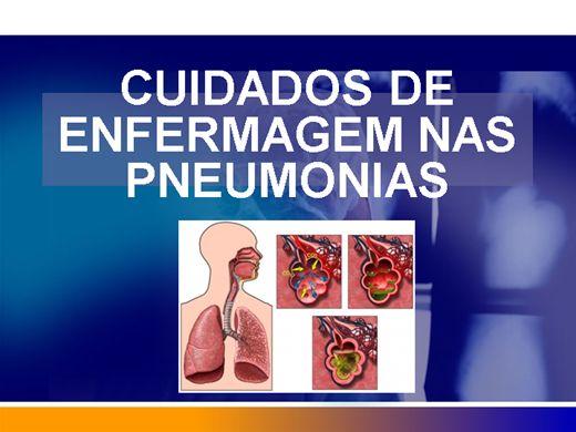 Curso Online de CUIDADOS DE ENFERMAGEM NAS PNEUMONIAS