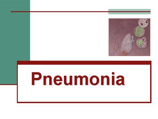 Curso Online de PNEUMONIA