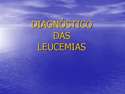 Curso Online de DIAGNÓSTICO DAS LEUCEMIAS