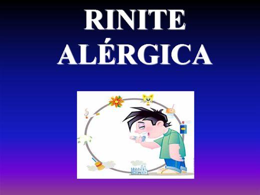 Curso Online de RINITE ALÉRGICA