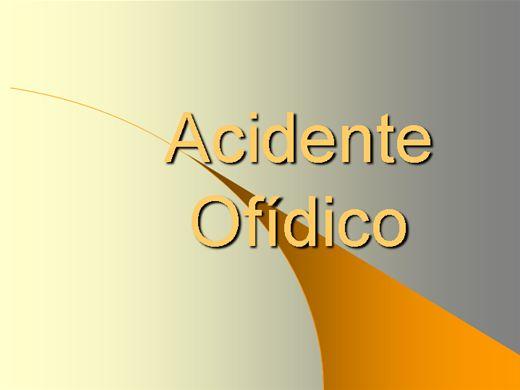 Curso Online de ACIDENTE OFÍDICO