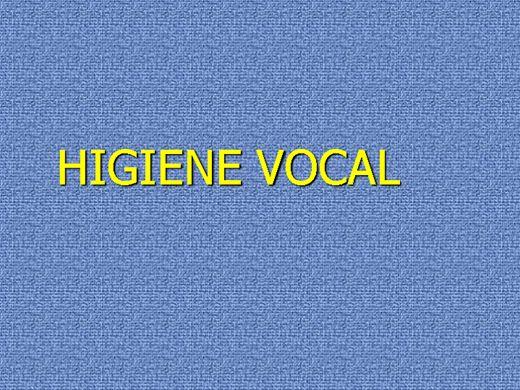 Curso Online de HIGIENE VOCAL