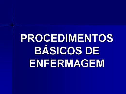 Curso Online de PROCEDIMENTOS BÁSICOS DE ENFERMAGEM