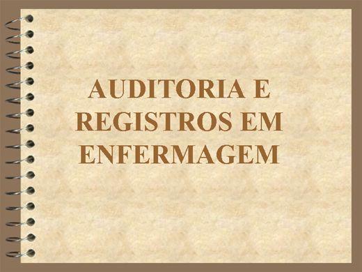 Curso Online de AUDITORIA E REGISTROS EM ENFERMAGEM