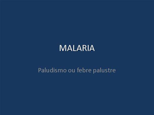 Curso Online de MALARIA