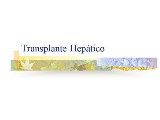 Curso Online de TRANSPLANTE HEPÁTICO