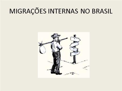 Curso Online de MIGRAÇÕES INTERNAS NO BRASIL