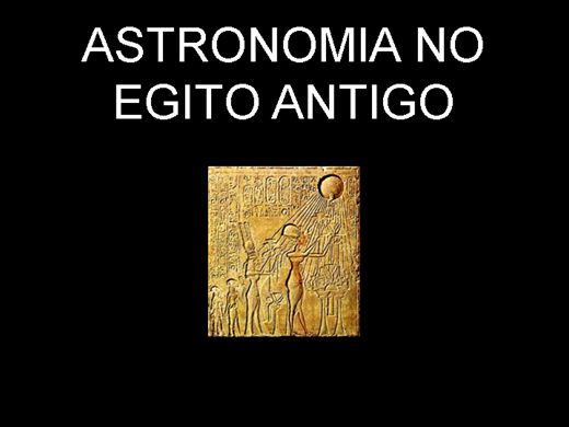 Curso Online de ASTRONOMIA NO EGITO ANTIGO