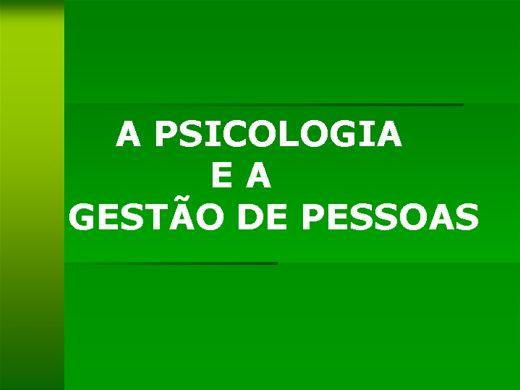 Curso Online de A PSICOLOGIA  E A GESTÃO DE PESSOAS