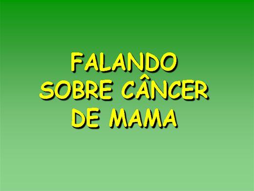 Curso Online de FALANDO SOBRE CÂNCER DE MAMA