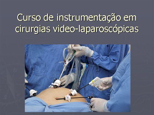 Curso Online de CURSO DE INSTRUMENTAÇÃO EM CIRURGIAS  VIDEO-PALAROSCÓPICAS