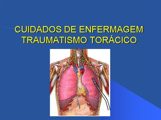 Curso Online de CUIDADOS DE ENFERMAGEM TRAUMATISMO TORÁCICO