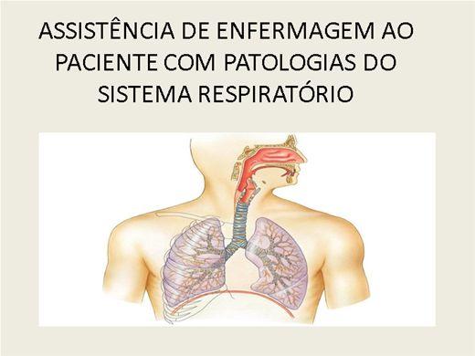 Curso Online de ASSISTÊNCIA DE ENFERMAGEM AO PACIENTE COM PATOLOGIAS DO SISTEMA RESPIRATÓRIO