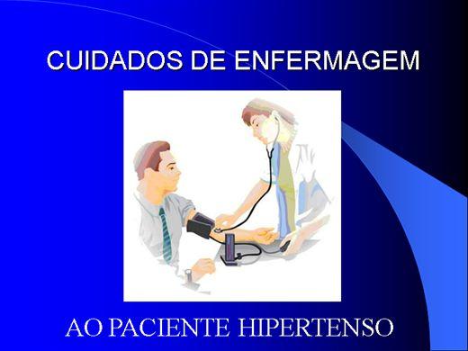 Curso Online de CUIDADOS DE ENFERMAGEM AO PACIENTE HIPERTENSO