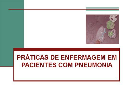 Curso Online de PRÁTICAS DE ENFERMAGEM EM PACIENTES COM PNEUMONIA