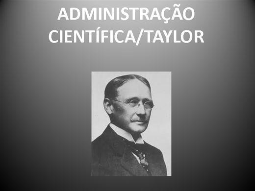 Curso Online de ADMINISTRAÇÃO CIENTÍFICA/TAYLOR AULA 1