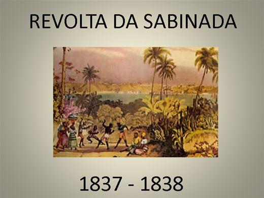 Curso Online de REVOLTA DA SABINADA 1837 - 1838