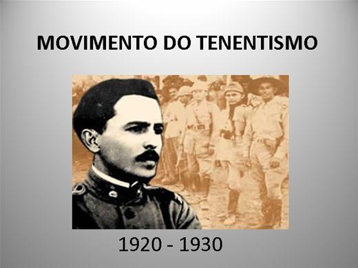 Curso Online de MOVIMENTO DO TENENTISMO 1920 - 1930