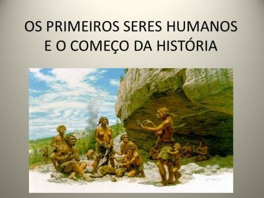 Curso Online de OS PRIMEIROS SERES HUMANOS E O COMEÇO DA HISTÓRIA