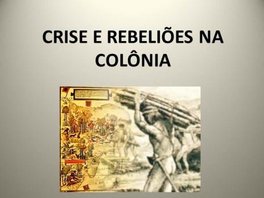 Curso Online de CRISE E REBELIÕES NA COLÔNIA