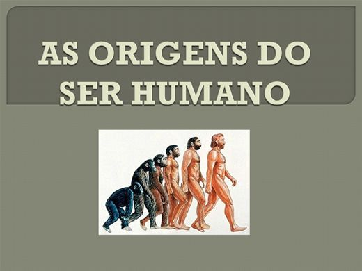 Curso Online de AS ORIGENS DO SER HUMANO