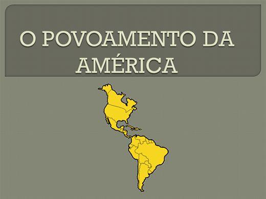 Curso Online de O POVOAMENTO DA AMÉRICA