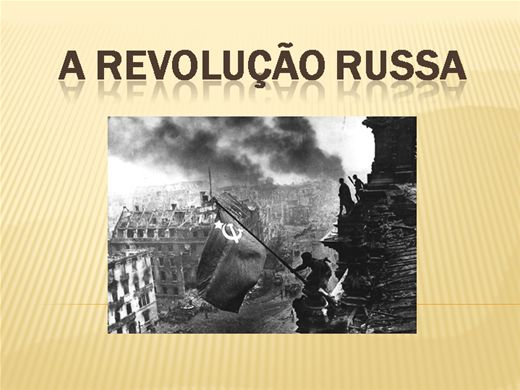 Curso Online de A REVOLUÇÃO RUSSA