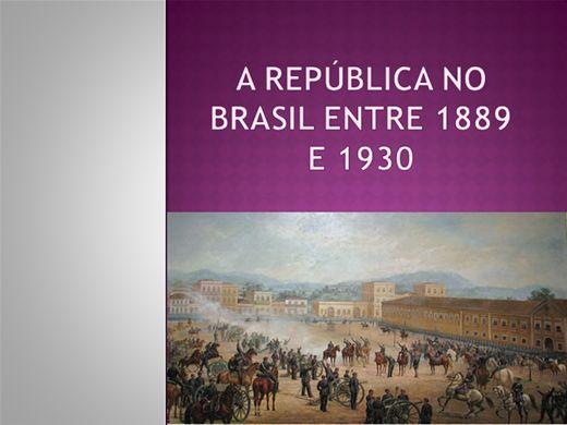 Curso Online de A REPÚBLICA NO BRASIL ENTRE 1889 E 1930