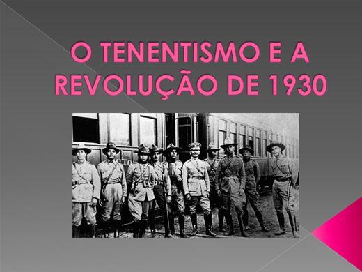 Curso Online de O TENENTISMO E A REVOLUÇÃO DE 1930