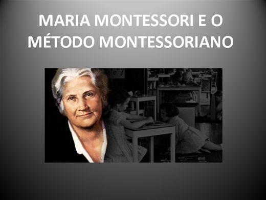 Curso Online de MARIA MONTESSORI E O MÉTODO MONTESSORIANO