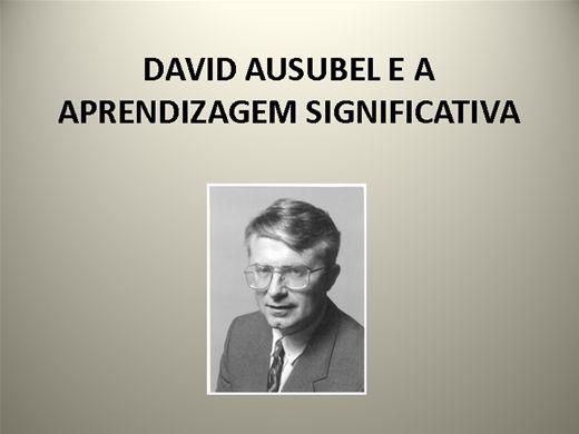Curso Online de DAVID AUSUBEL E A APRENDIZAGEM SIGNIFICATIVA