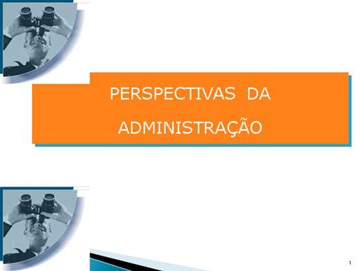 Curso Online de PERSPECTIVAS  DA ADMINISTRAÇÃO