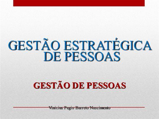 Curso Online de GESTÃO ESTRATÉGICA DE PESSOAS