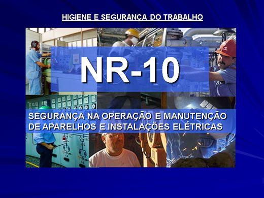 Curso Online de CURSO NR10 - SEGURANÇA NA OPERAÇÃO E MANUTENÇÃO DE APARELHOS E INSTALAÇÕES ELÉTRICAS