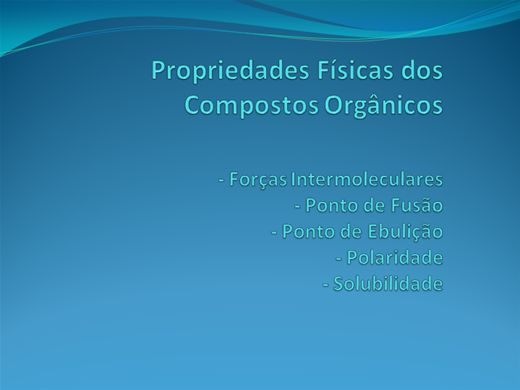 Curso Online de Forças Intermoleculares