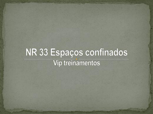 Curso Online de NR 33 Espaços confinados