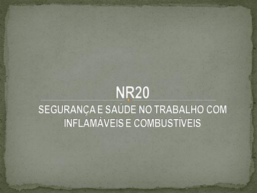 Curso Online de NR20  SEGURANÇA E SAÚDE NO TRABALHO COM INFLAMÁVEIS E COMBUSTÍVEIS