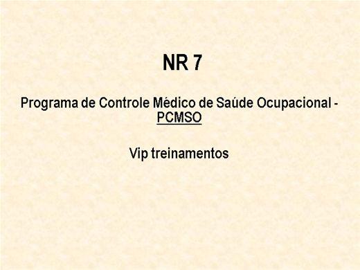 Curso Online de NR 7  Programa de Controle Médico de Saúde Ocupacional - PCMSO