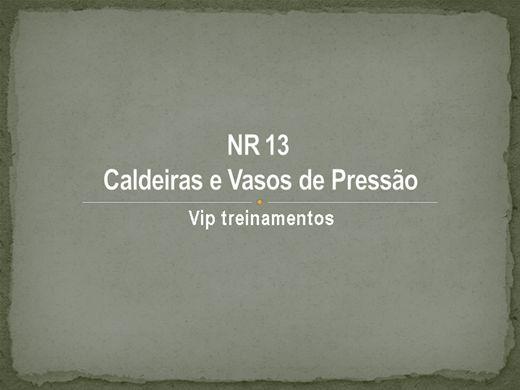 Curso Online de NR 13  Caldeiras e Vasos de Pressão