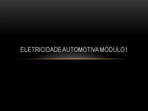 Curso Online de Eletricidade Automotiva Módulo l