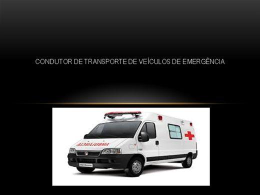 Curso Online de Condutor de Transporte de Veículos de Emergência