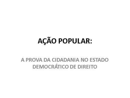 Curso Online de AÇÃO POPULAR
