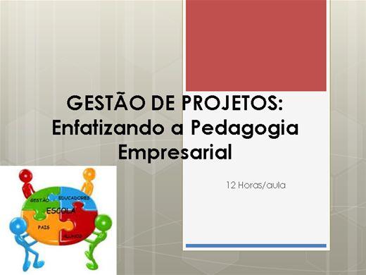 Curso Online de Gestão de Projetos: enfatizando a pedagogia empresarial