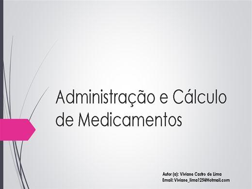 Curso Online de Administração e Cálculo de Medicamentos